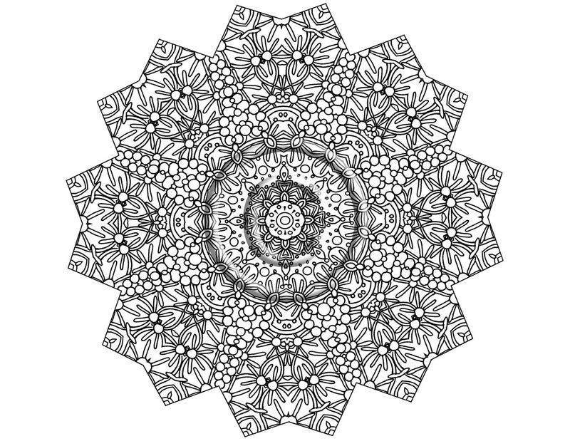 Kid Mandala Coloring Pages Printable