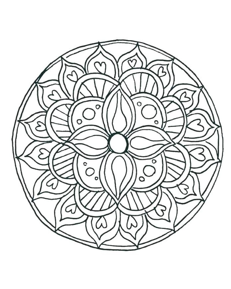 Kids Mandala Coloring Pages Printable