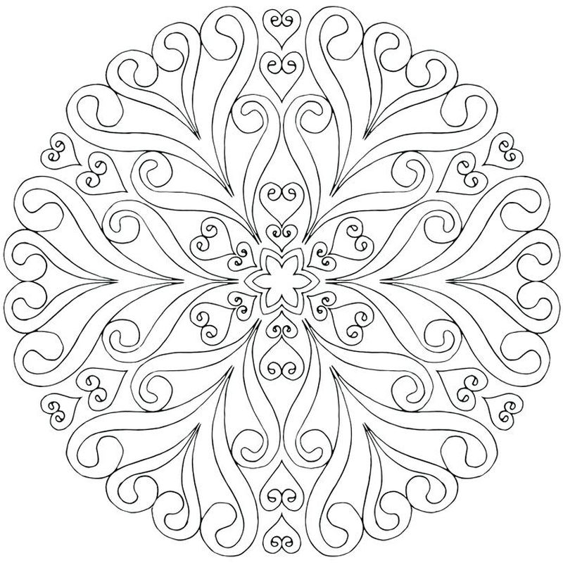 Kids Mandala Coloring Printable