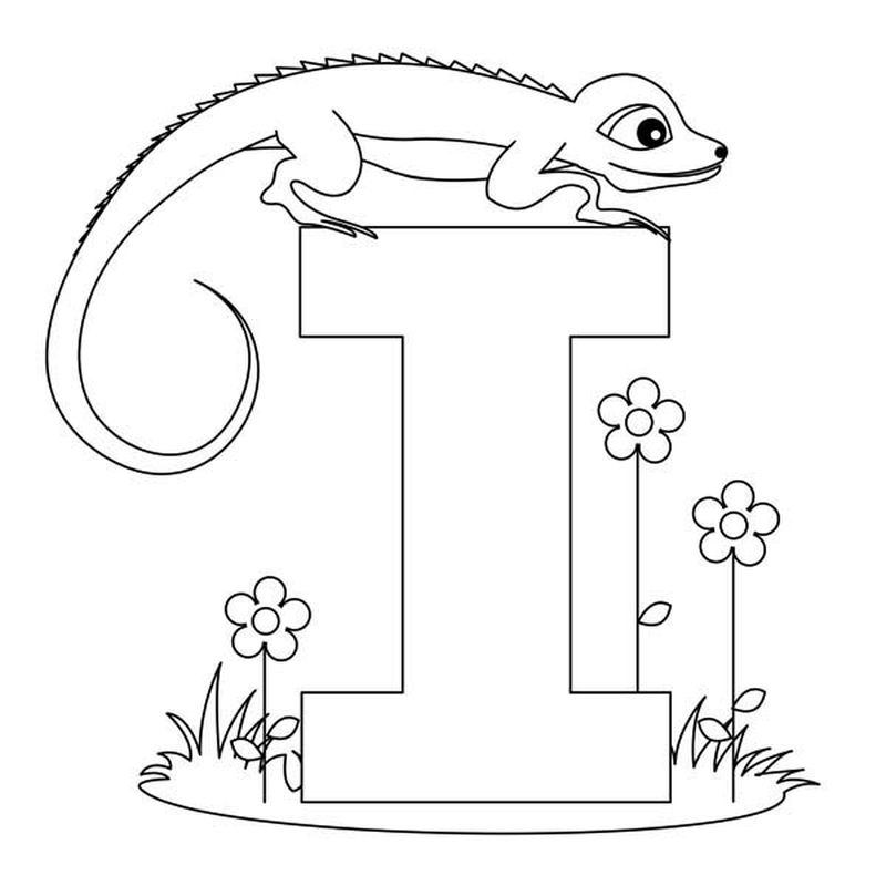 Letter A Coloring Page Printable