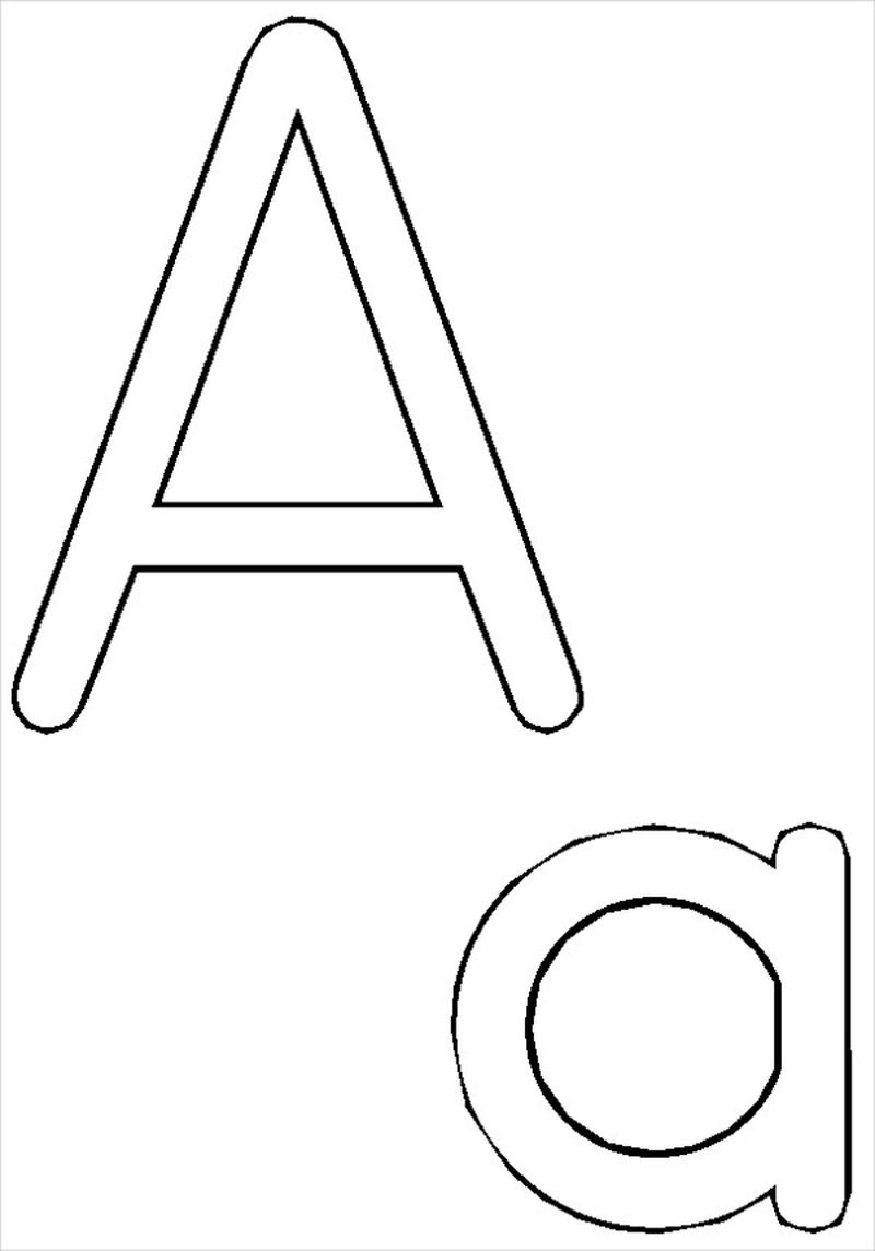 Letter A Coloring Pages For Toddlers Printable