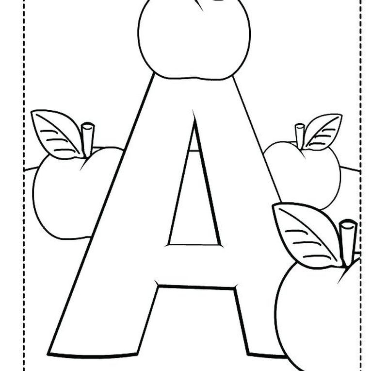 Letter A Printable Coloring Pages Printable