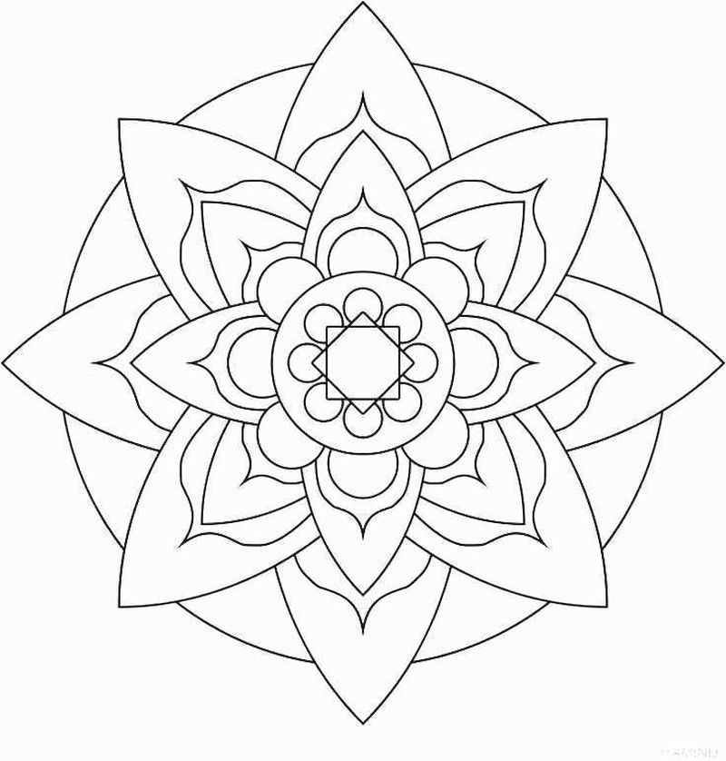 Mandala Color Pages Printable