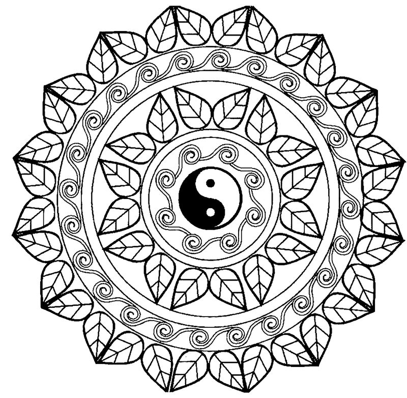 Mandala Coloring Pages Easy Printable