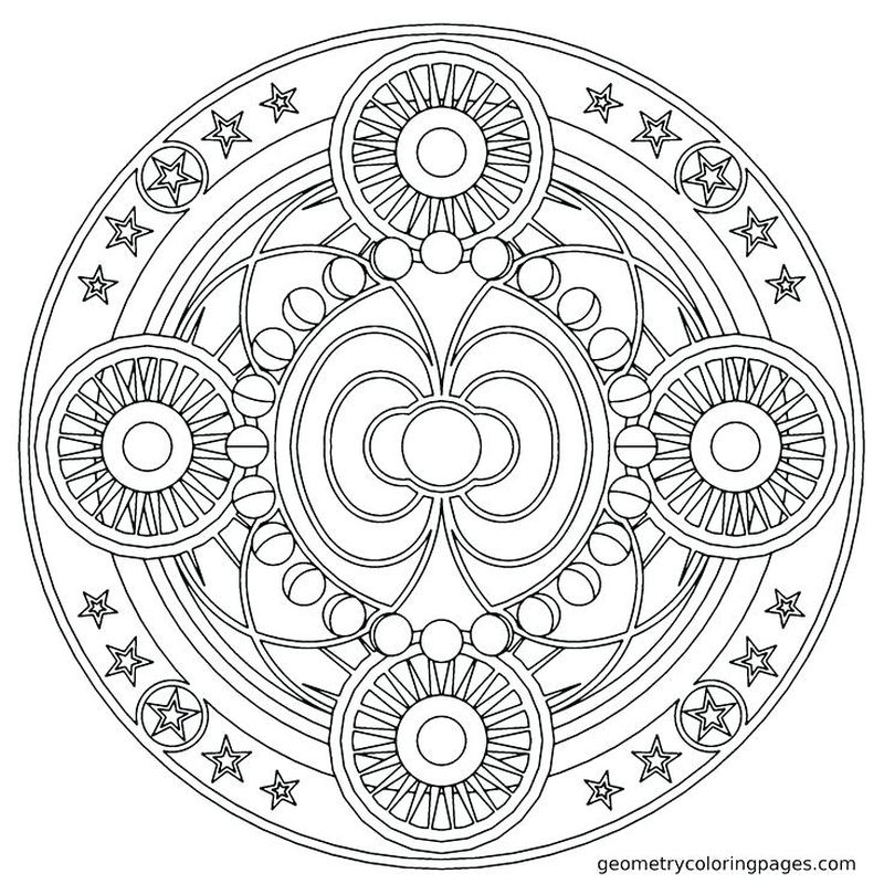 Mandalas Coloring For Kids Printable
