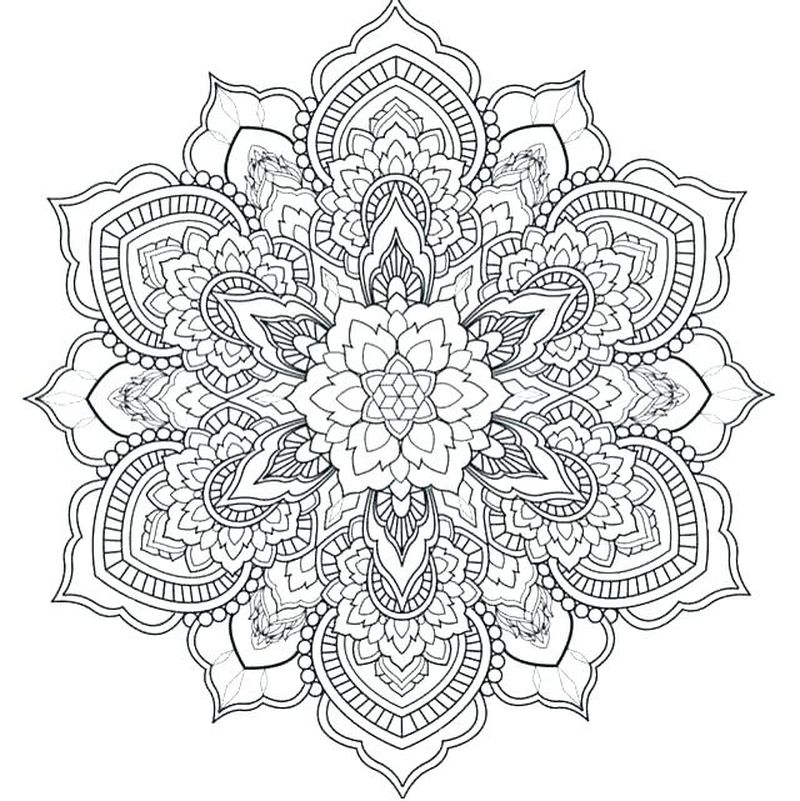 Mandalas Coloring Pictures Printable