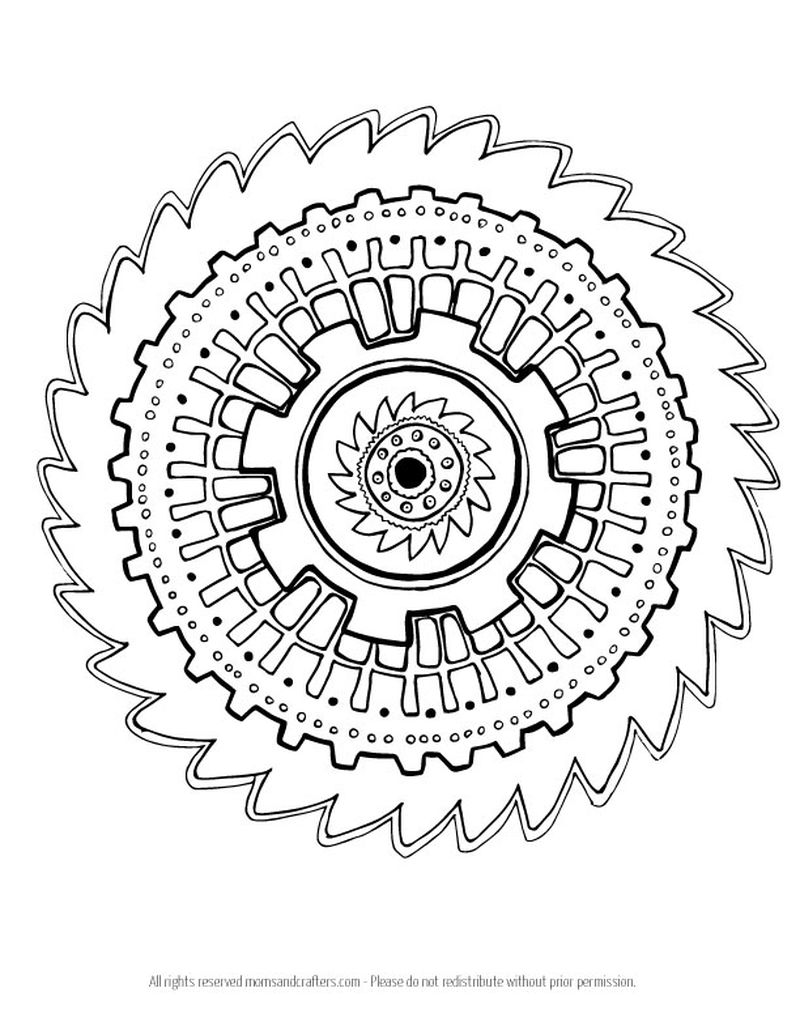 Mandalas Printable Coloring Pages Printable