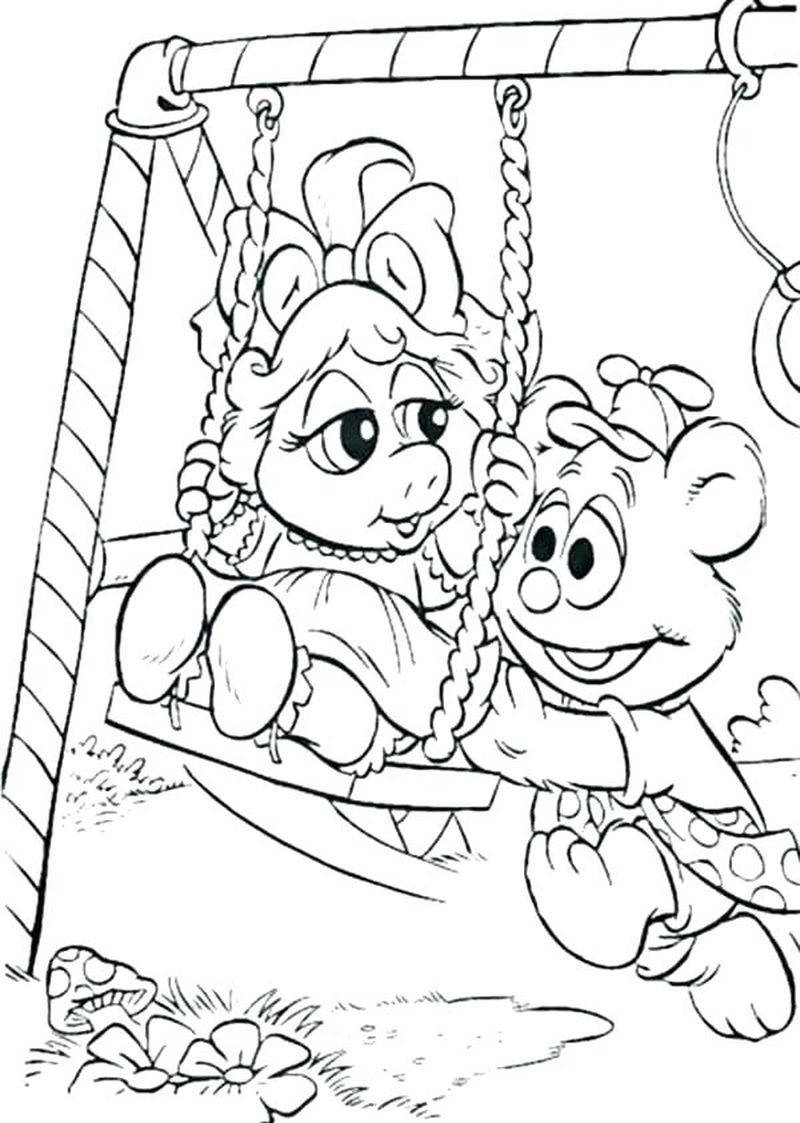 Muppet Babies Coloring Page