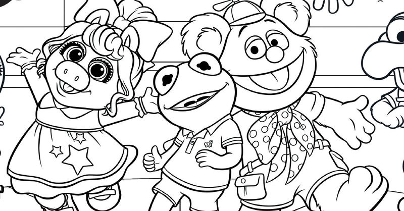 Muppet Babies Coloring Pages Printable pdf