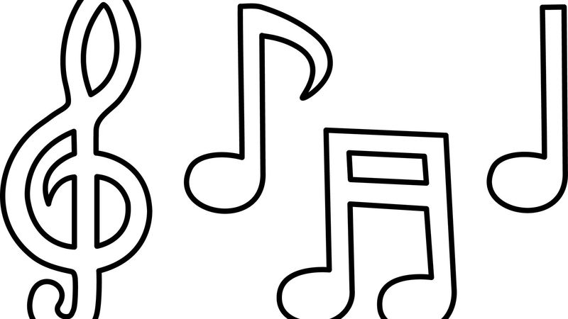 Music Coloring Pages Kids