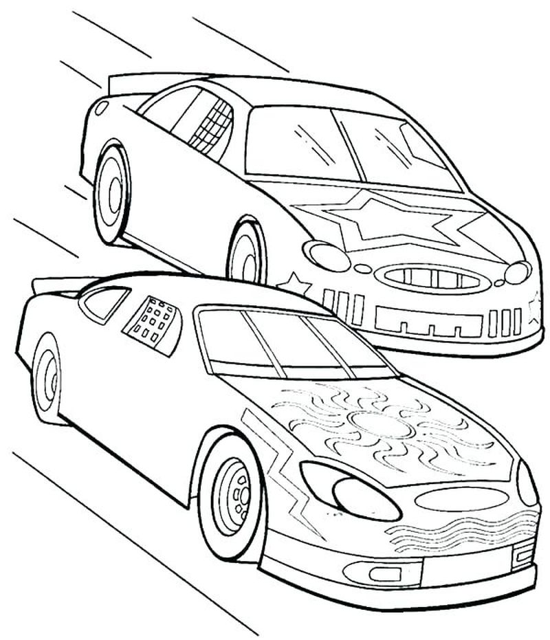 Nascar Coloring Pages 2018 Printable