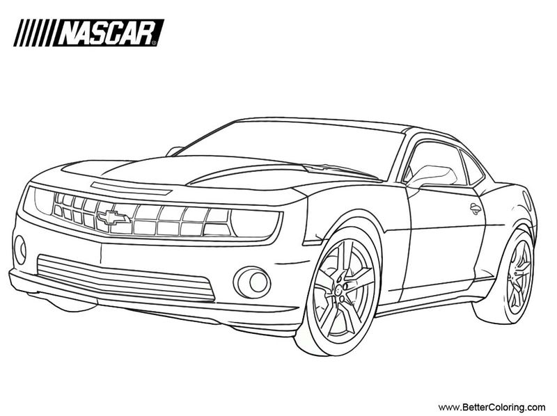 Nascar Coloring Pages Kids Kyle Bush Printable