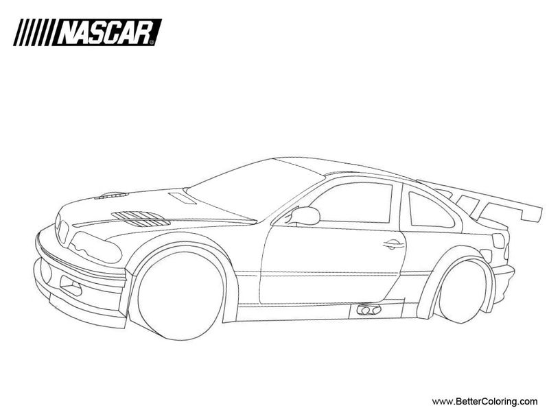 Nascar Coloring Pages Kids Kyle Larson Printable