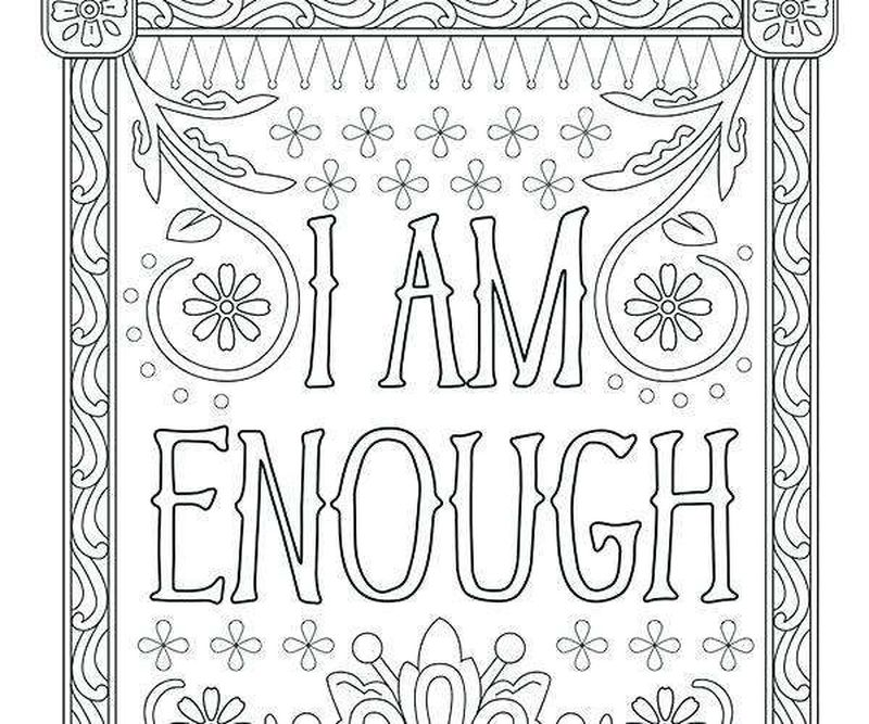 PRINTABLE coloring pages for adults inspirational quotesPrintable