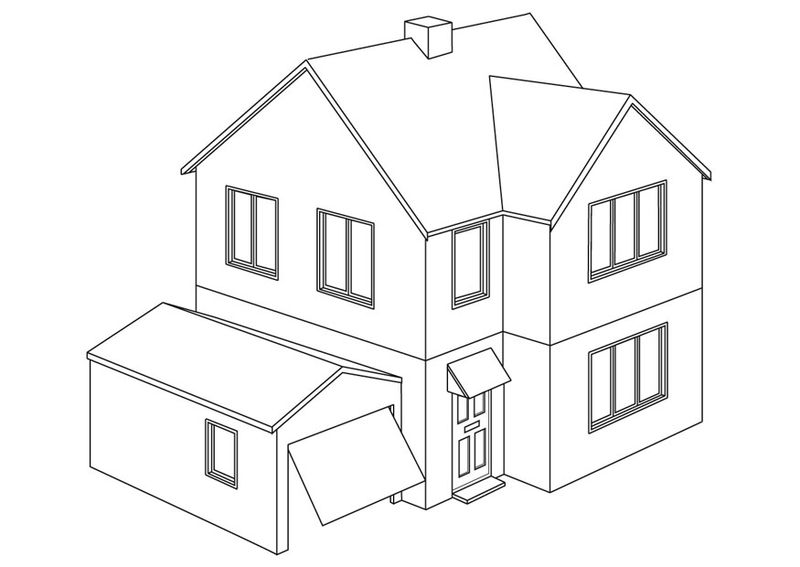 PRINTABLE house coloring pages Printable