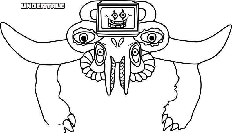 PRINTABLE undertale coloring pages