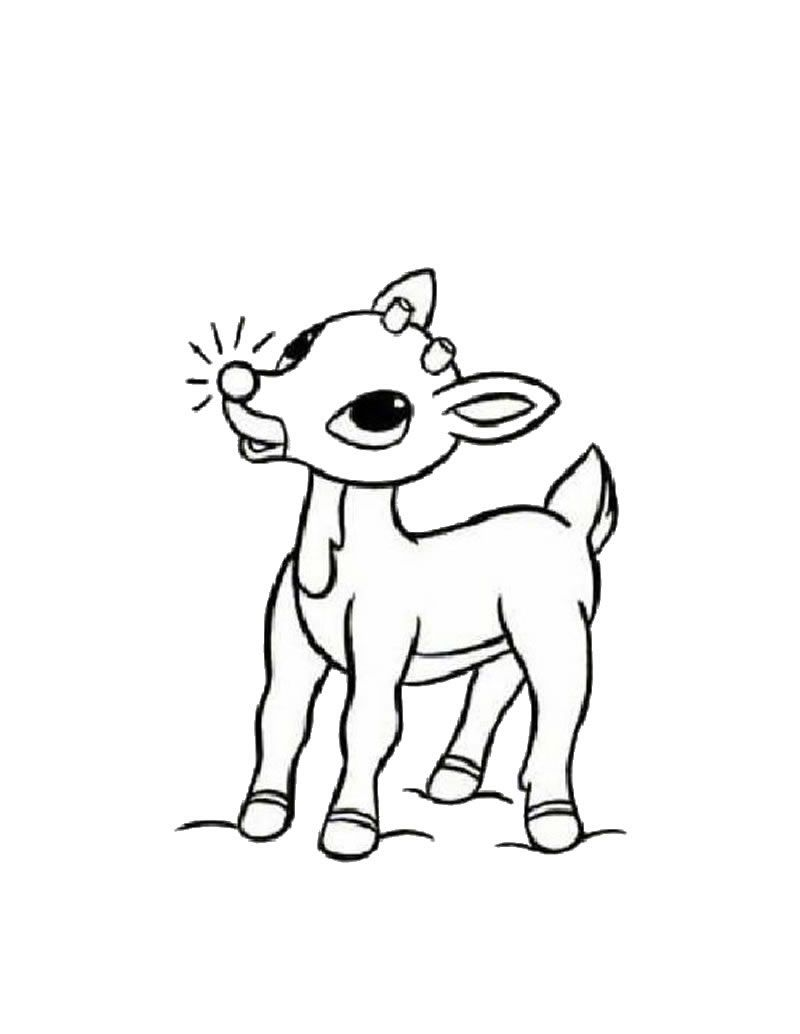 Print Santa And Rudolph Coloring Pages