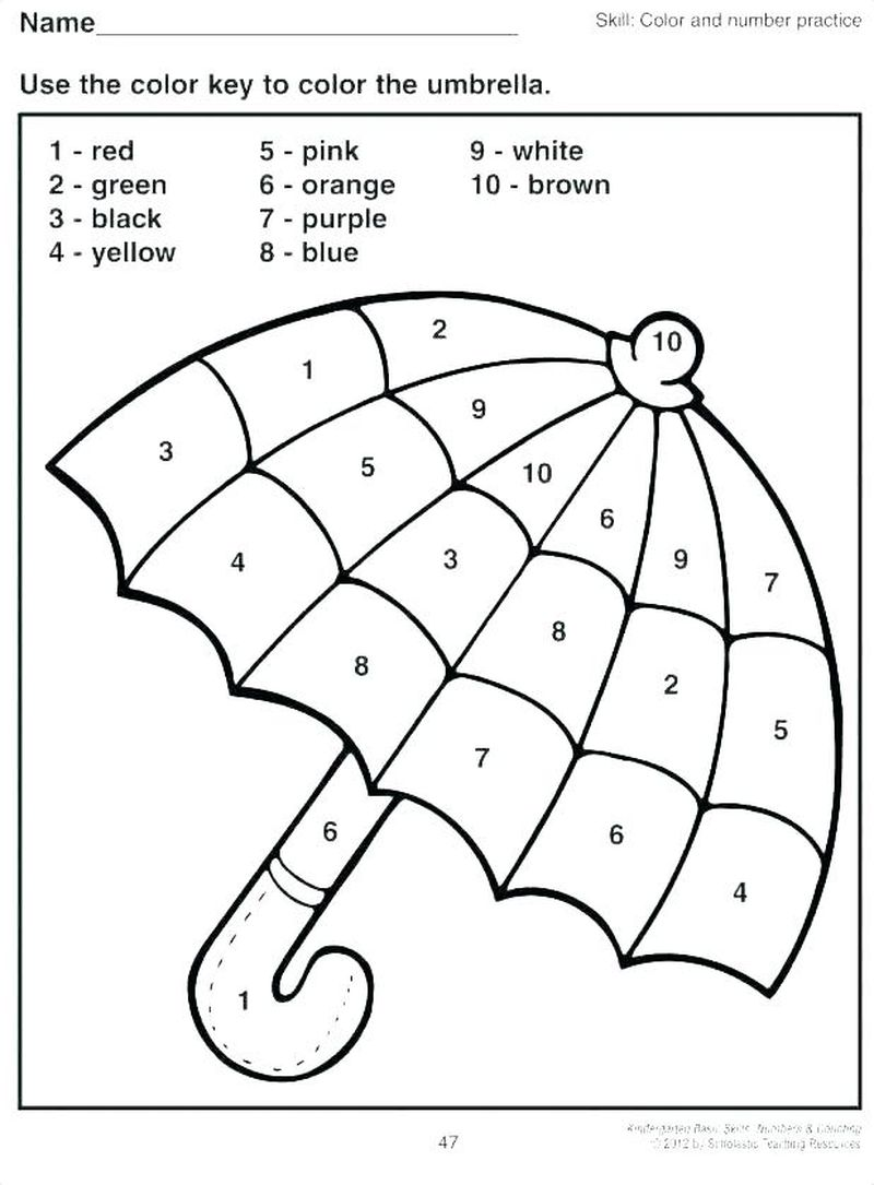 Printable Addition Coloring Pages Color By Number 1