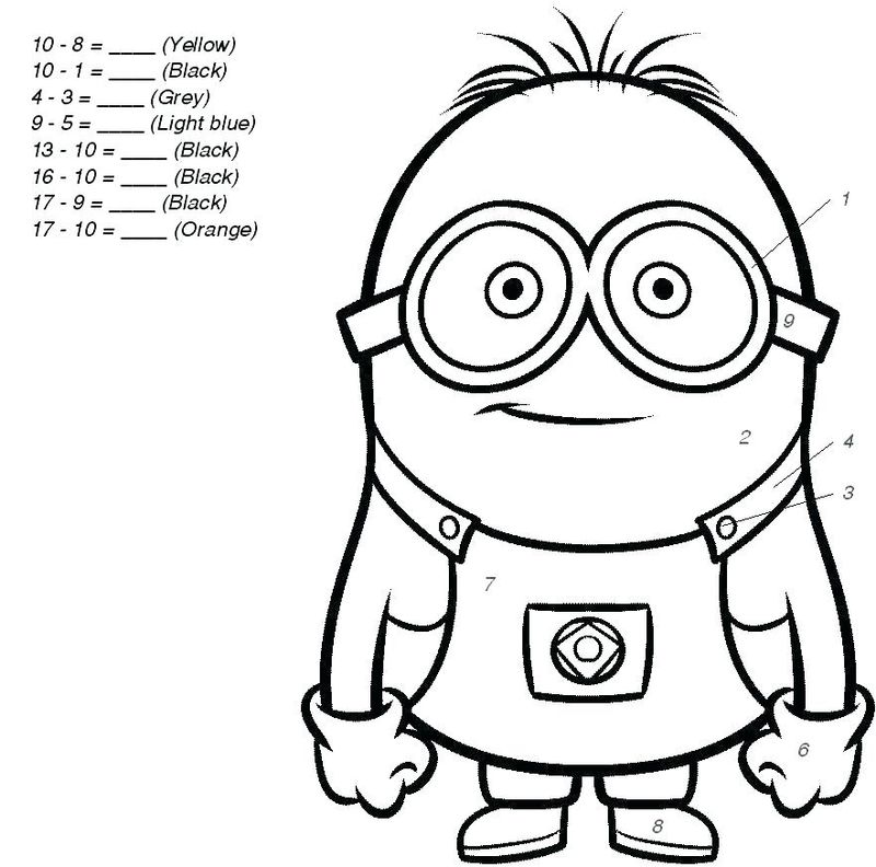 Printable Addition Coloring Pages Color By Number