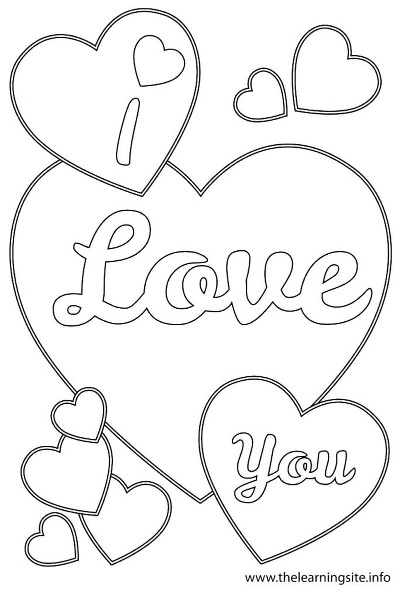 Printable Adult Coloring Pages I Love You Free