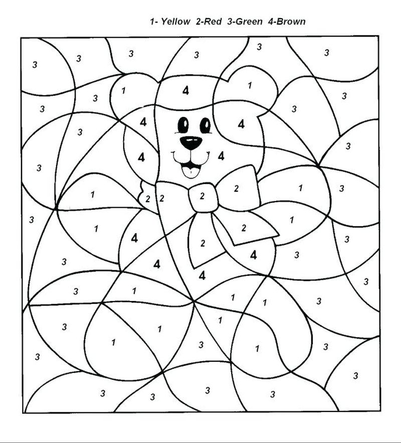 Printable Advanced Color By Number Coloring Pages