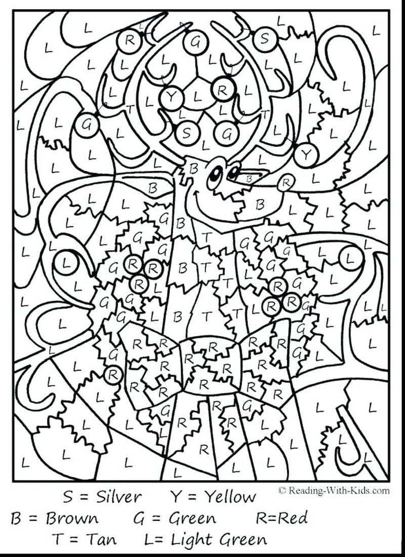 Printable Animal Color By Number Coloring Pages