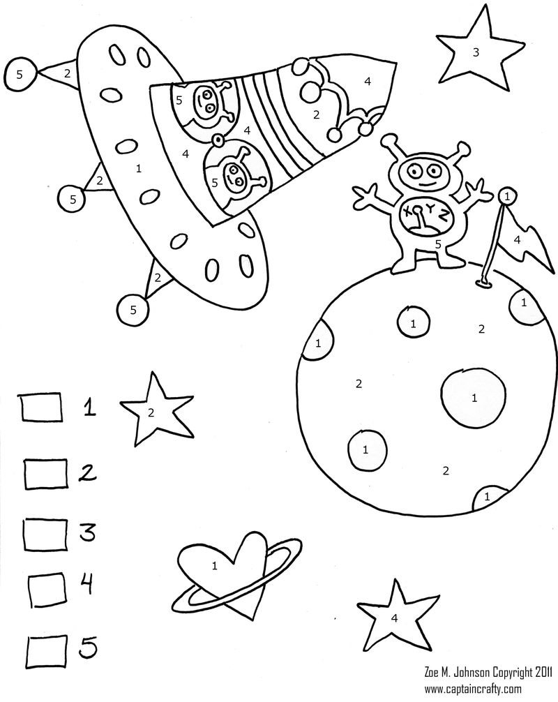 Printable Best Color By Number Coloring Pages