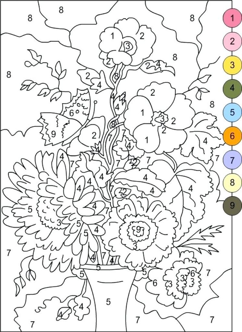 Printable Color By Number Christmas Coloring Pages
