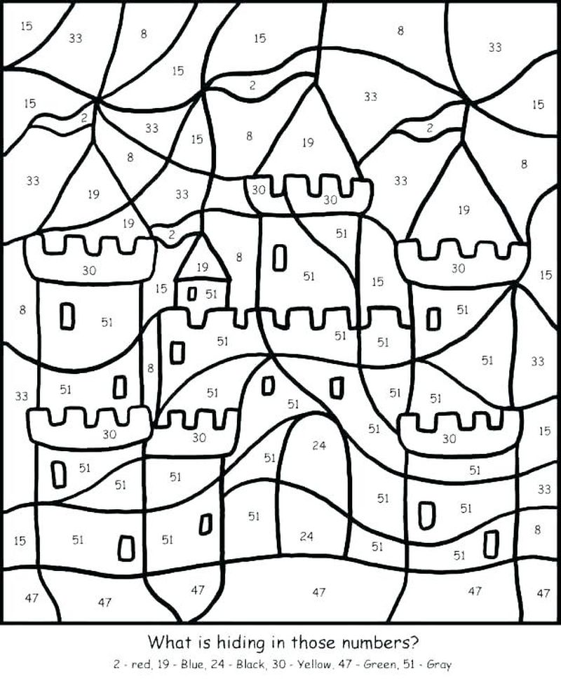 Printable Color By Number Coloring Pages 1