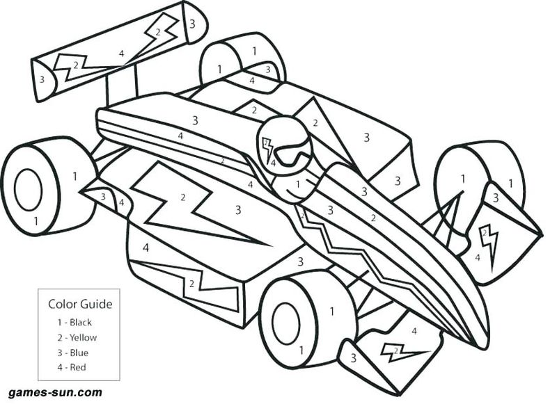 Printable Color By Number Coloring Pages Addition