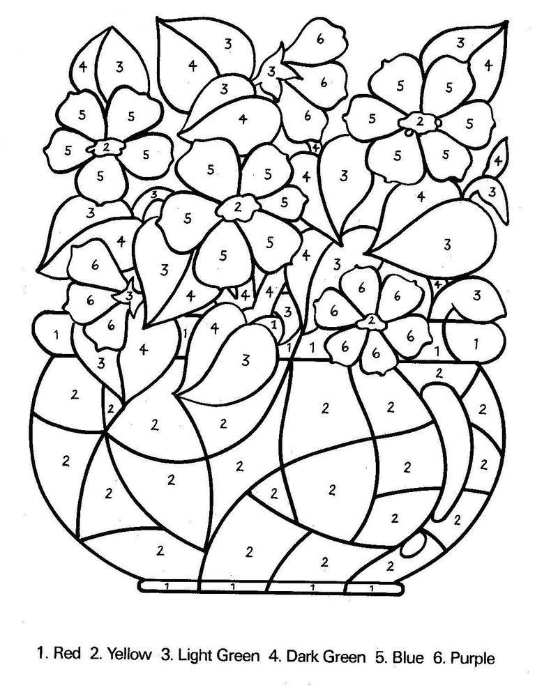 Printable Color By Number Coloring Pages For Adults 1