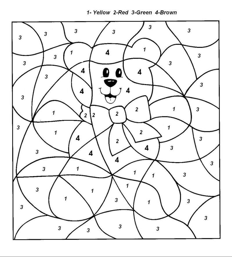 Printable Color By Number Coloring Pages For Kids