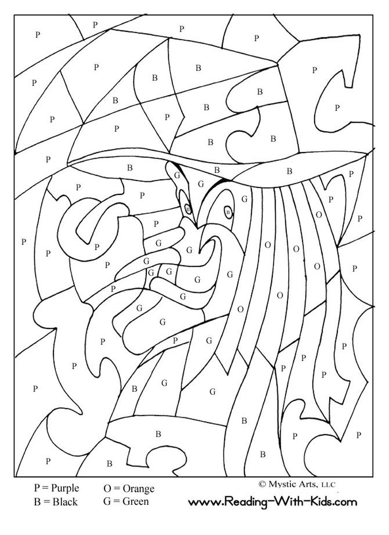 Printable Color By Number Coloring Pages For Preschoolers