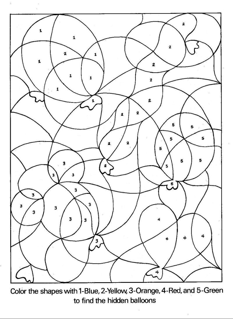 Printable Color By Number Coloring Pages Free Online