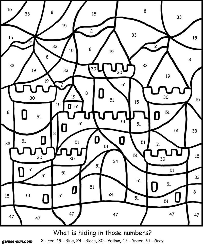 Printable Color By Number Coloring Pages Games Sandbox