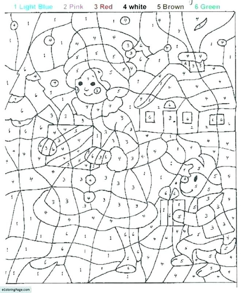 Printable Color By Number Coloring Pages Games