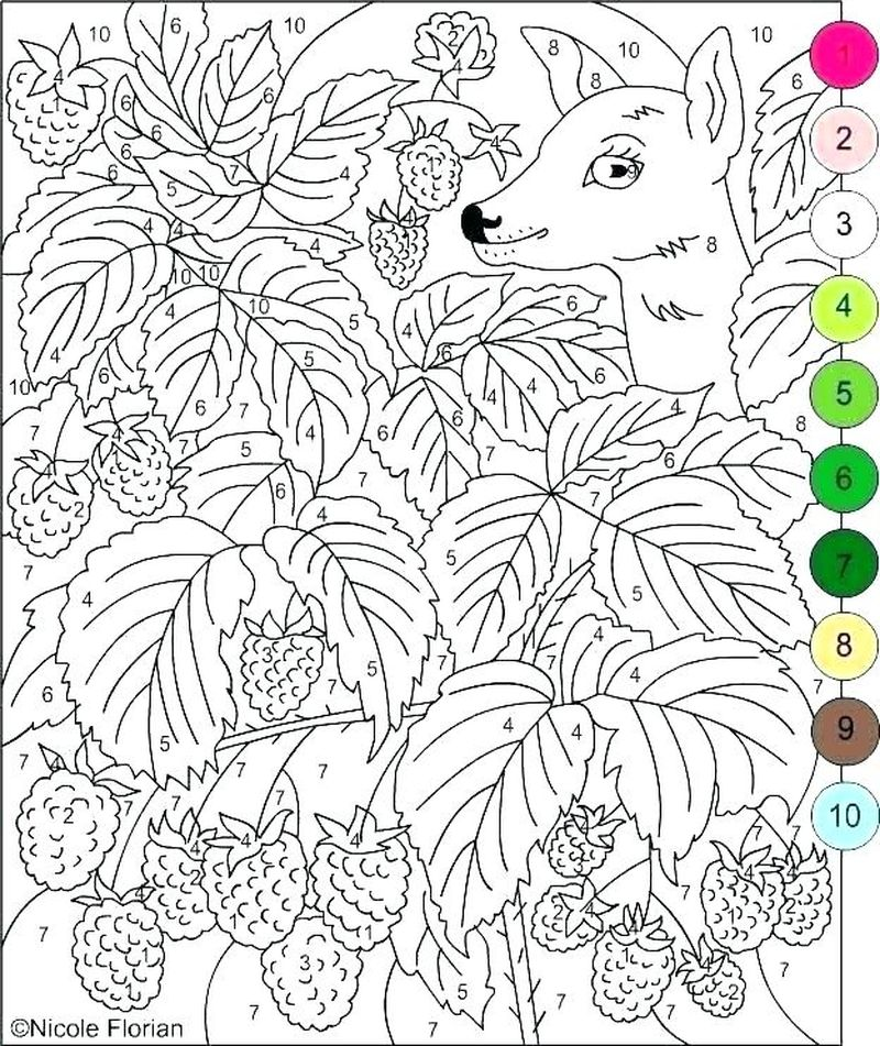 Printable Color By Number Coloring Pages Halloween
