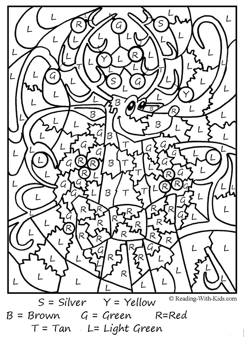 Printable Color By Number Coloring Pages Hard