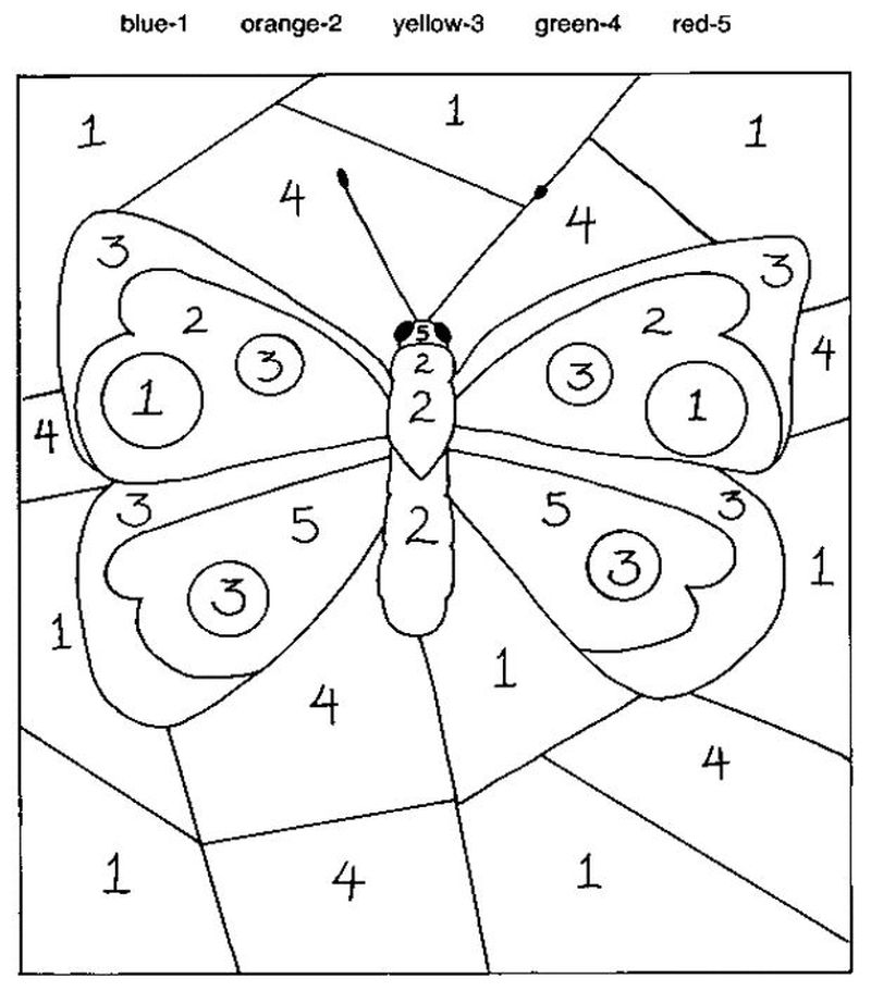 Printable Color By Number Coloring Pages Pdf