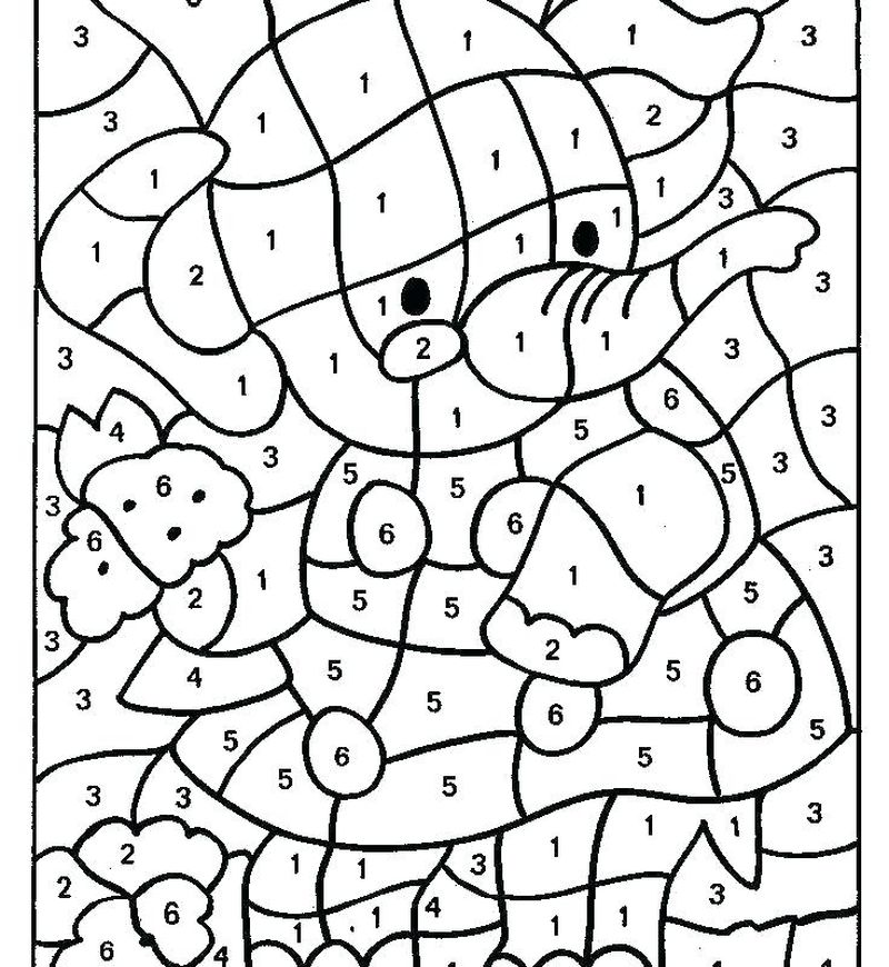 Printable Color By Number Coloring Pages Princess