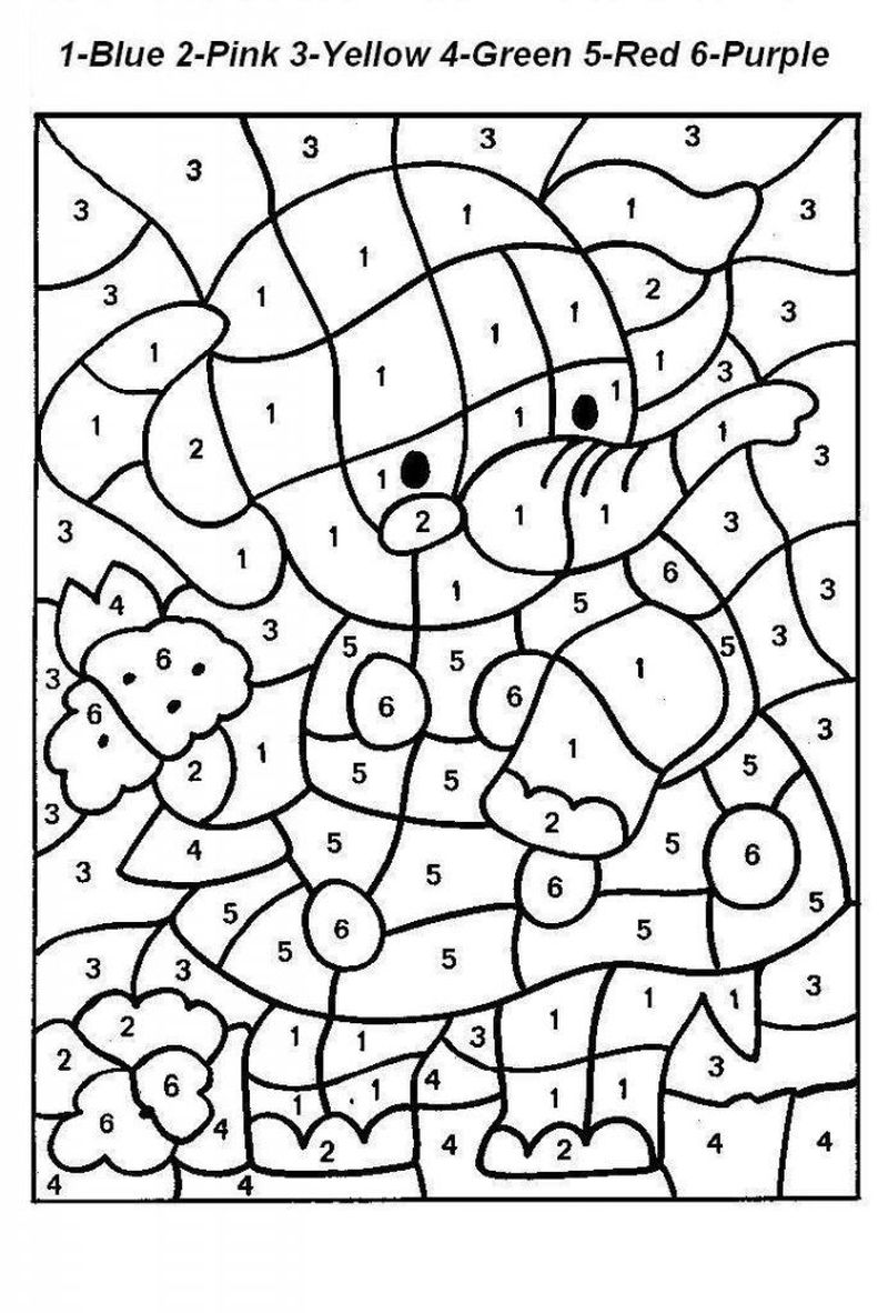 Printable Color By Number Coloring Pages Printable