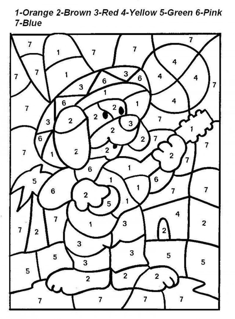 Printable Color By Number Coloring Pages Thanksgiving