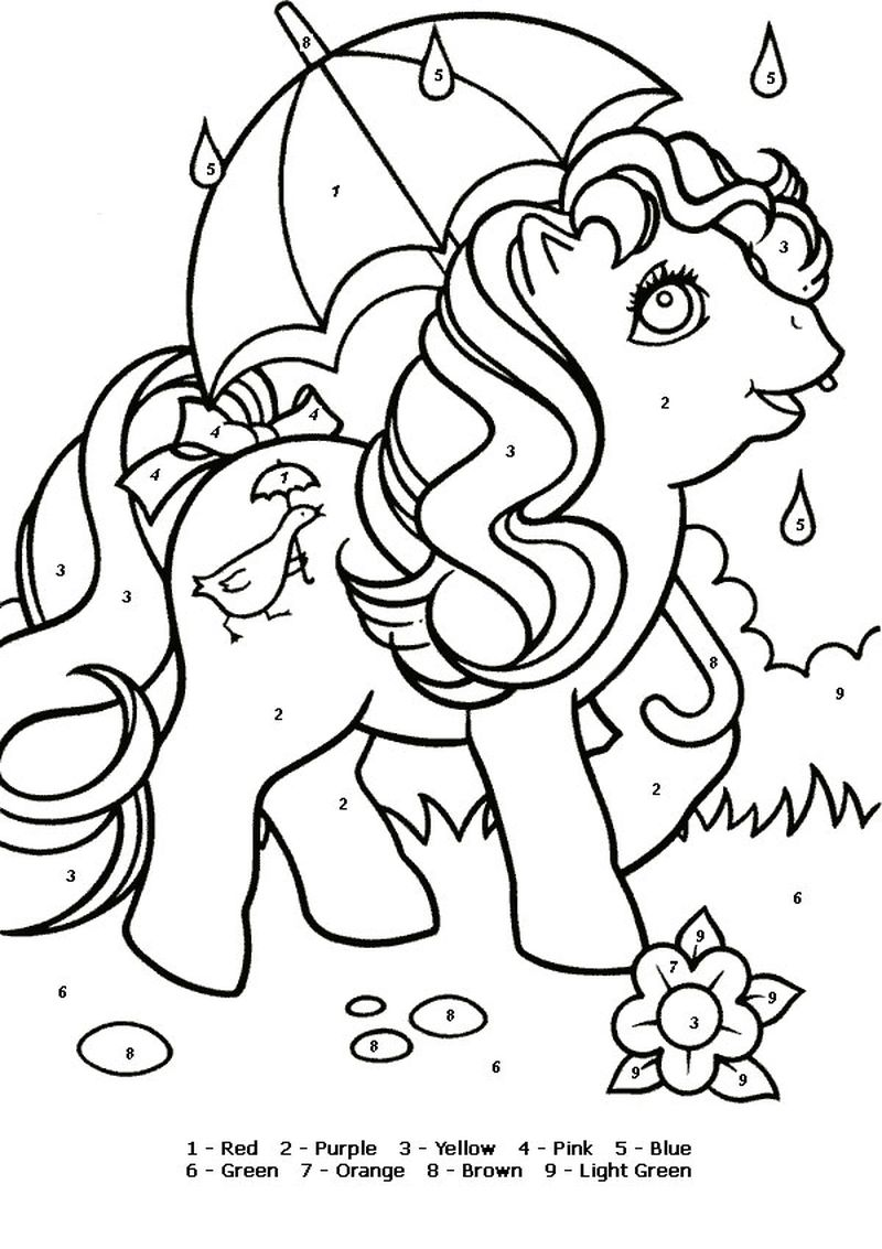 Printable Color By Number Coloring Pages To Print