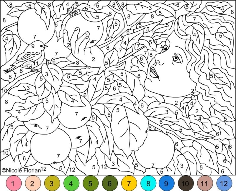 Printable Color By Number Coloring Pages With Key