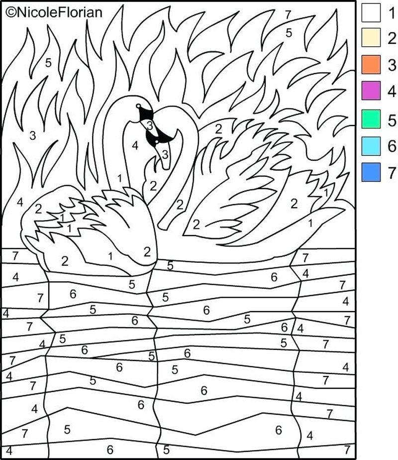 Printable Color By Number Coloring Pages Y8