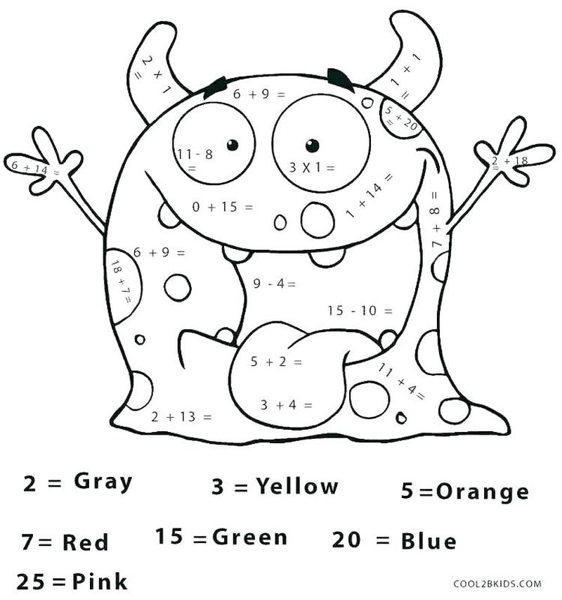 Printable Color By Number Flower Coloring Pages