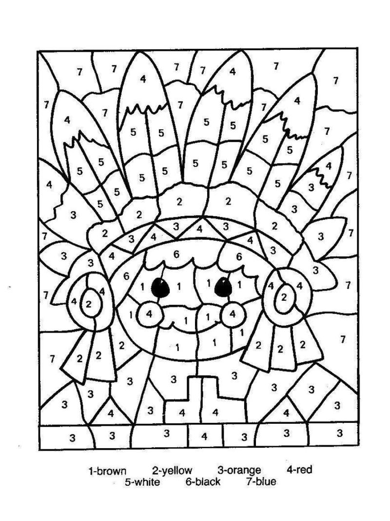 Printable Color By Number Free Printable Coloring Pages