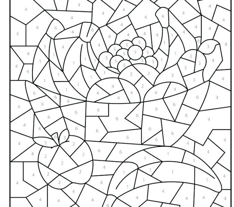Printable Color By Number Halloween Coloring Pages