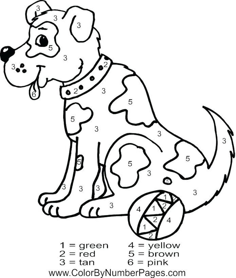 Printable Color By Number Princess Coloring Pages