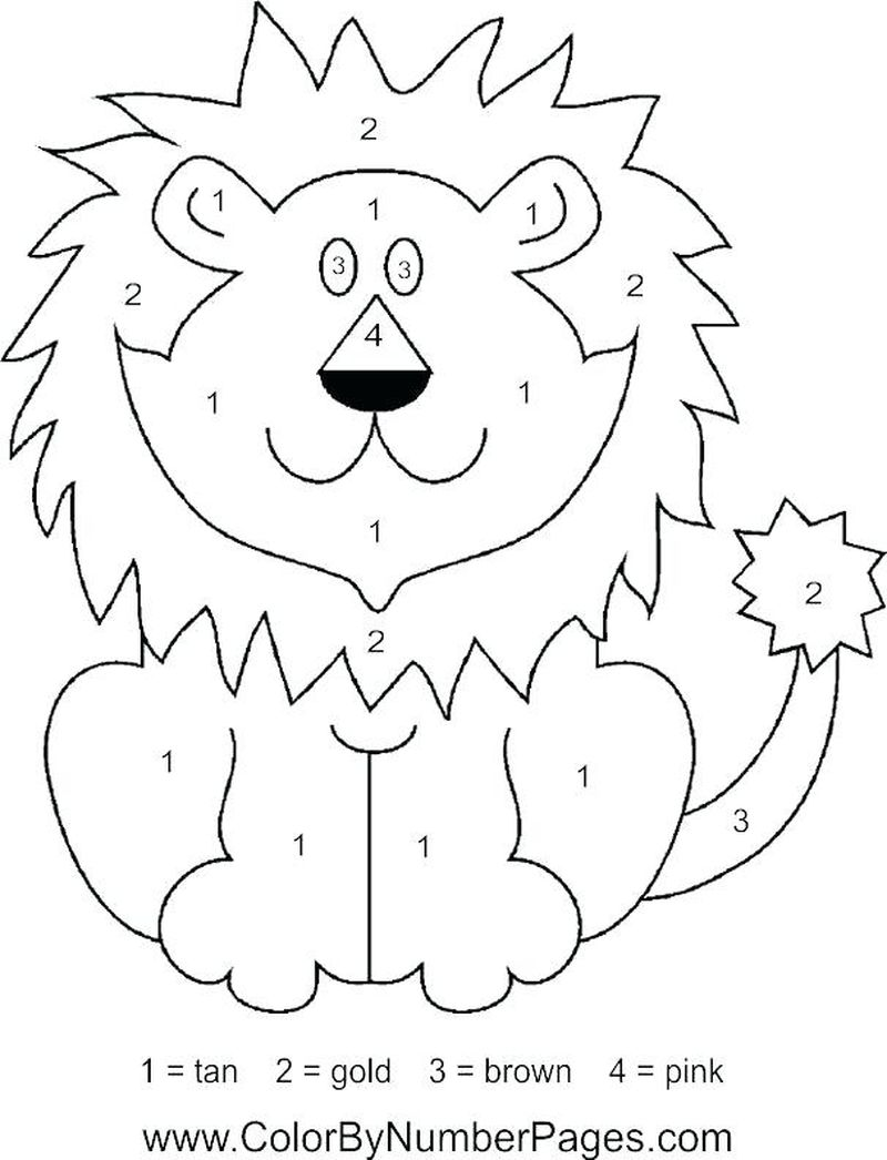 Printable Color By Number Valentine Coloring Pages
